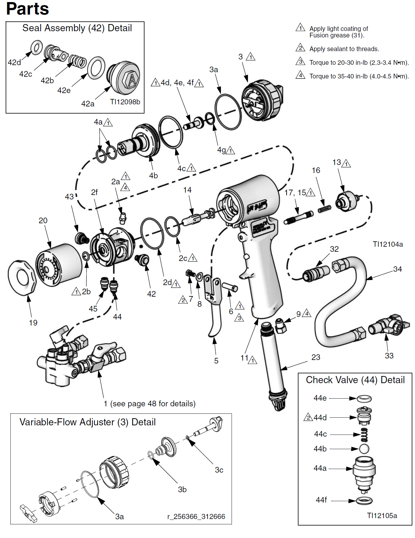 Graco Fusion CS Exploded Diagram Page 1